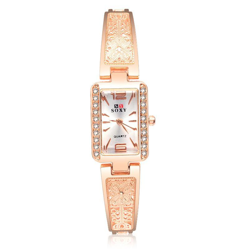 Costbuys  women's bracelet watches fashion rose gold women's watches diamond ladies watch women watches clock reloj mujer montre