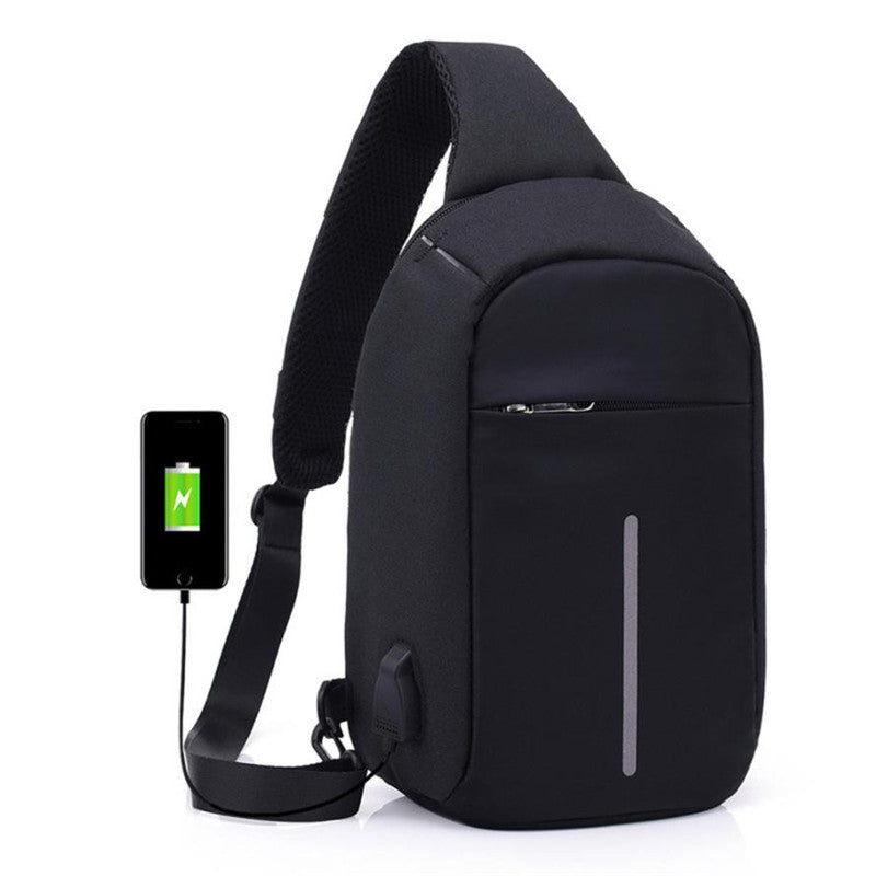 Costbuys  Bbagpack Laptop Backpack kanken backpack school Bags Anti-theft Notebook School Bag With USB Port - Black / China