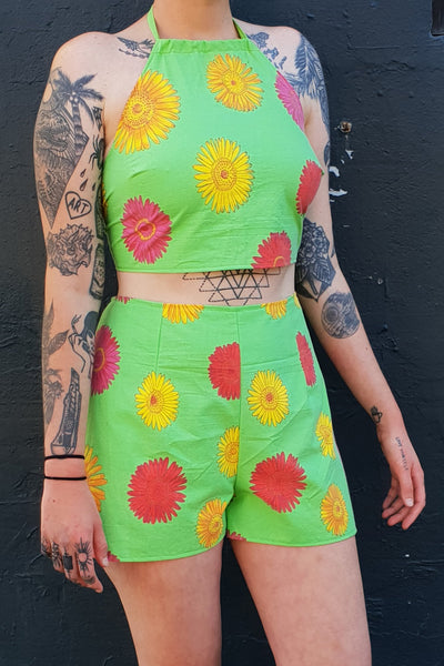 Sunflower Halter Top