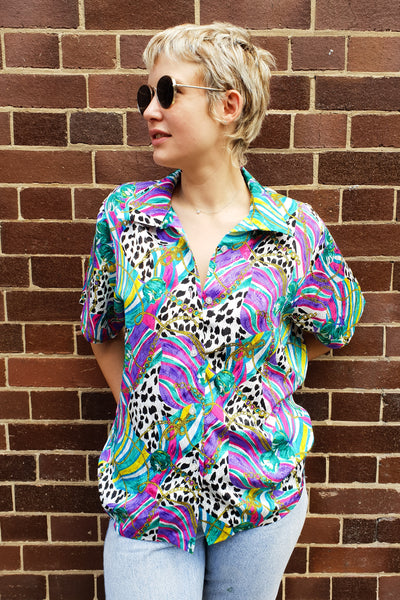Rainbow Animal Print Blouse
