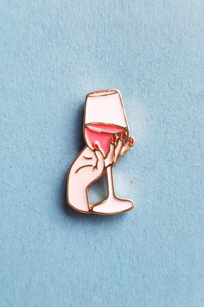 Lil' Wine Glass Pin