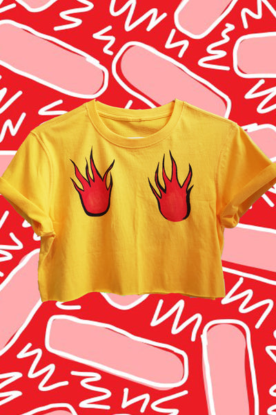 Hand Painted Flame Crop