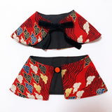 Oriental Sky Boy Cape Collar Red