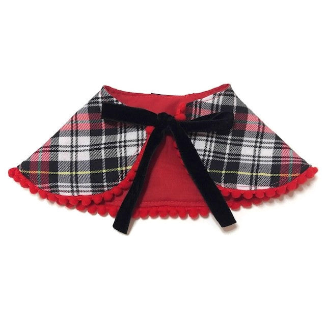 Black Checks Cape Collar