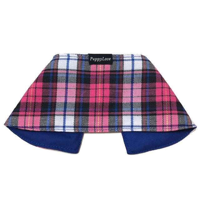 Pink Checks Boy Cape Collar