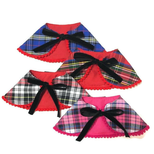 Pink Checks Cape Collar