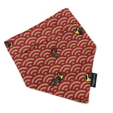 Lucky Fish Red Waves Bandana Reversible