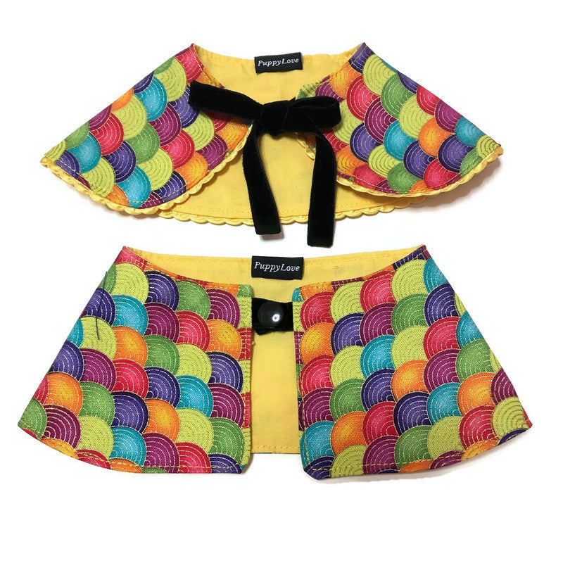 Rainbow Wave Boy Cape Collar
