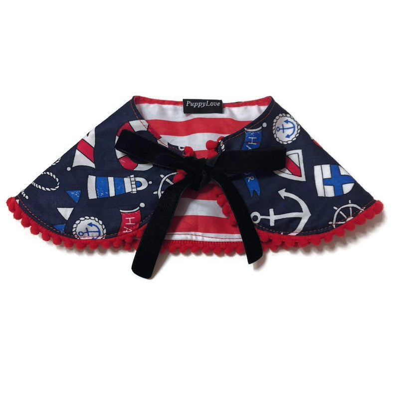 Nautical Reversible Cape Collar