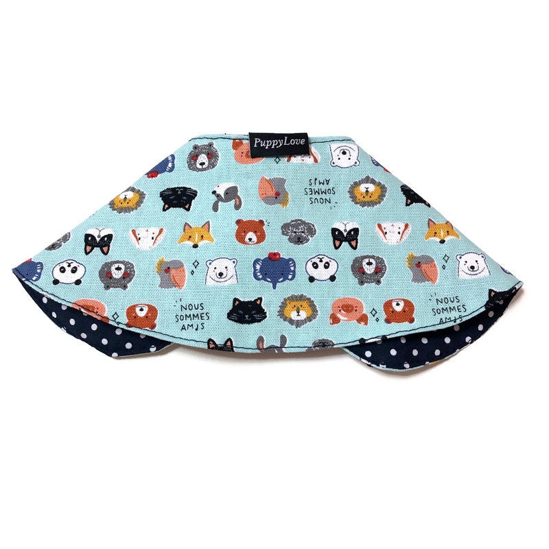 Animal Friends Girl Cape Collar