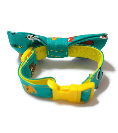 Animal Safari Bowtie Green