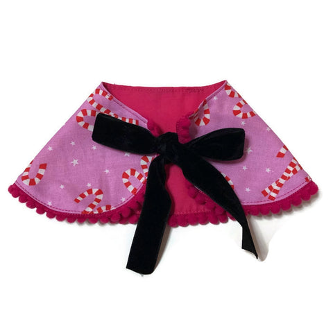 Sakura Fortune Cat Cape Collar Red