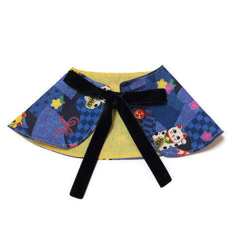 Psychedelic Blue Cape Collar