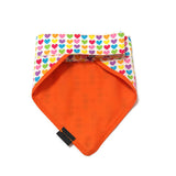 Rainbow Hearts Bandana Orange