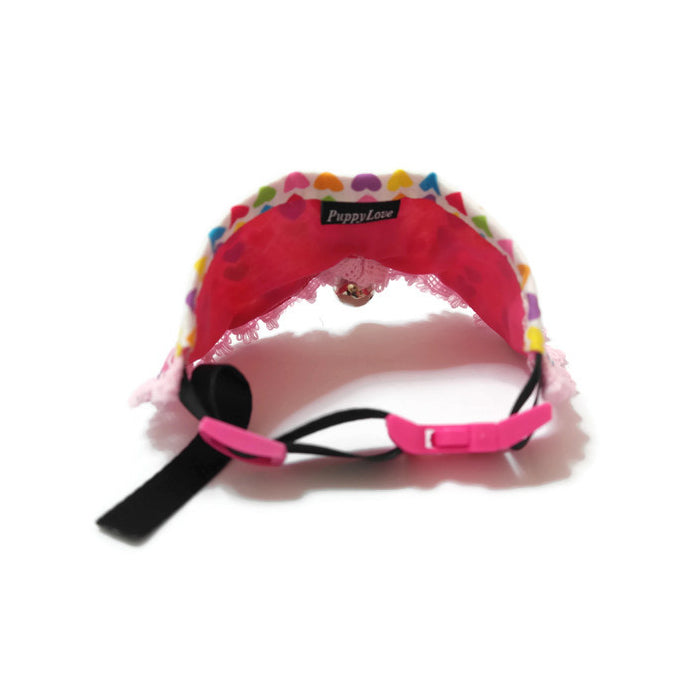 Rainbow Hearts Princess Collar Pink