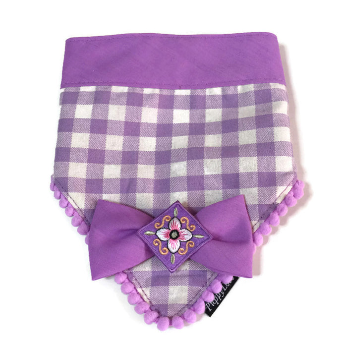 Sakura Bandana Purple Checks Reversible