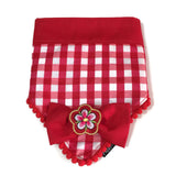Sakura Bandana Red Checks Reversible