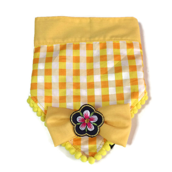 Sakura Bandana Yellow Checks Reversible