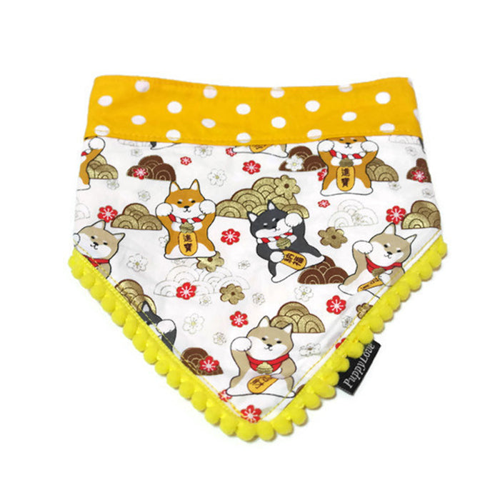Fortune Dog Reversible Bandana Yellow