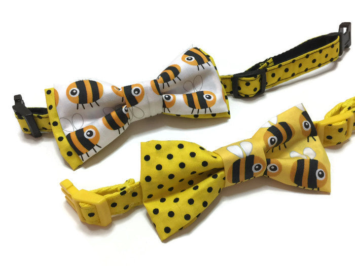 Copy of Busy Bee Bowtie White
