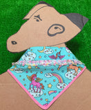 Unicorn Dreams Bandana Blue