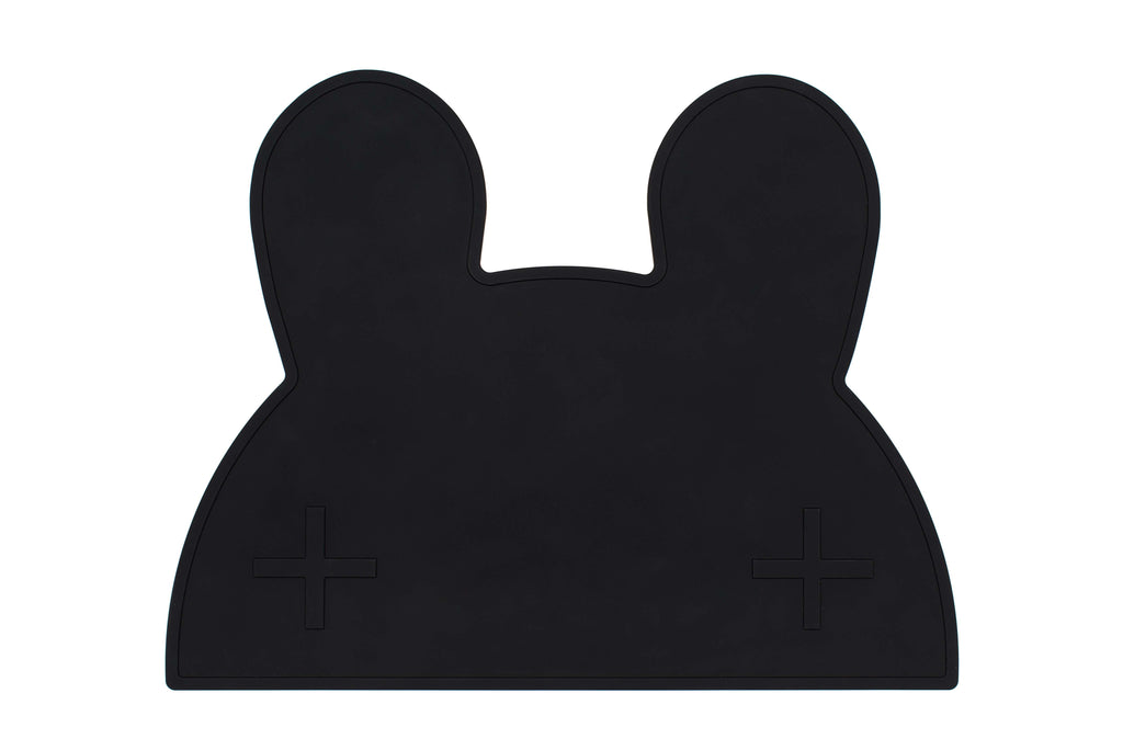 We Might Be Tiny Bunny Placemat Pure Black
