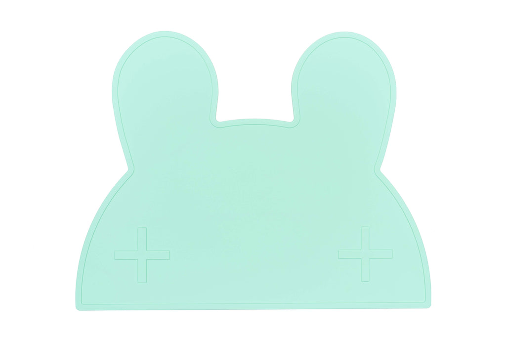 We Might Be Tiny Bunny Placemat Minty Green