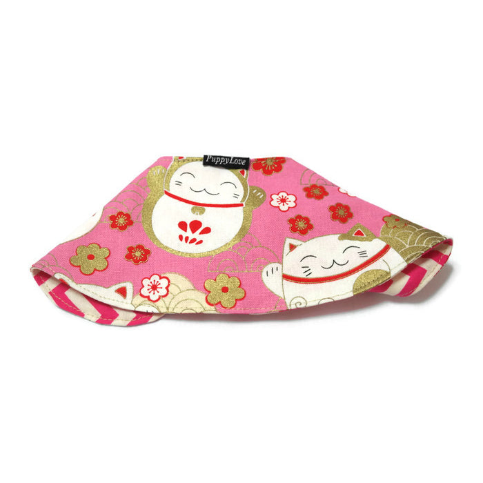 Fortune Cat Cape Collar Pink Gold