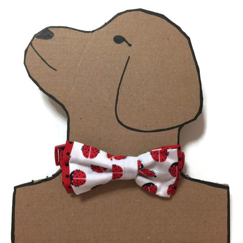 Red Green Checks Bowtie With Bell