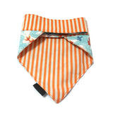 Lucky Goldfish Bandana Blue Reversible