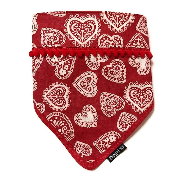Pretty Hearts Bandana Reversible