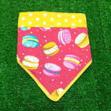 Sweet Macarons Bandana Yellow