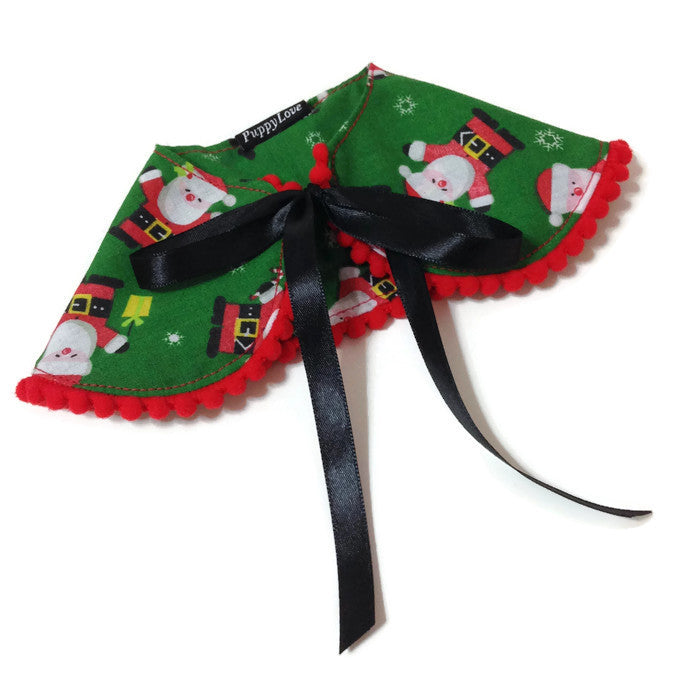Green Santa Cape Collar