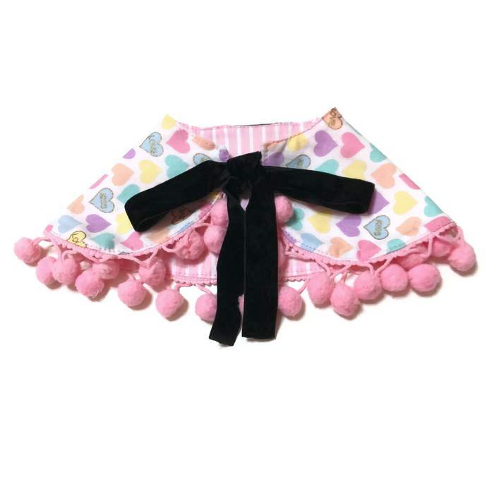 Candy Hearts Cape Collar