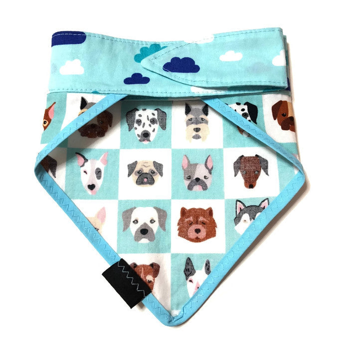 Dogs & Clouds Bandana Blue