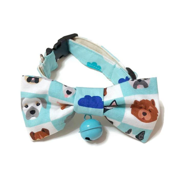 Dogs & Clouds Bowtie Blue