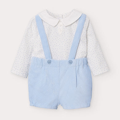 Mayoral Three Piece Blue Set - Hetty's Baby Boutique