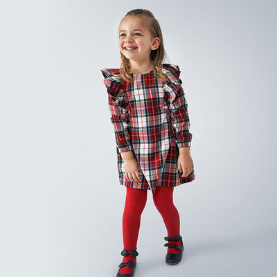 Mayoral Ruffled Checked Dress - Hetty's Baby Boutique