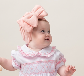 Pink Bow Turban - Hetty's Baby Boutique
