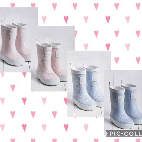 Luxury Boutique Pastel Colour Changing Wellies - Hetty's Baby Boutique