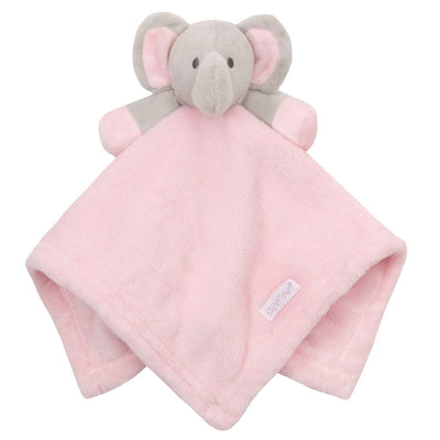 White, blue & pink Elephant Comforters - Hetty's Baby Boutique