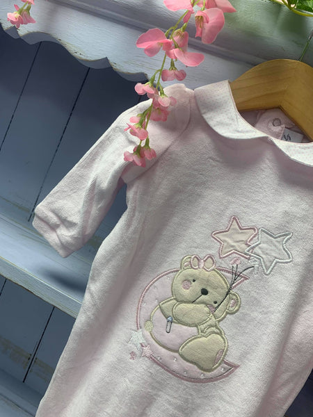 Boutique Baby Girl Pink Bear All In One - Hetty's Baby Boutique