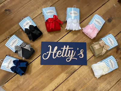 Tambino Bow Tights - Various Colours - Hetty's Baby Boutique