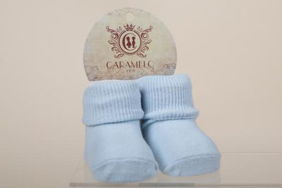 Baby Socks - White & Blue - Hetty's Baby Boutique