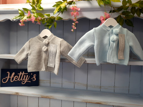 Knitted pom cardigan - Hetty's Baby Boutique