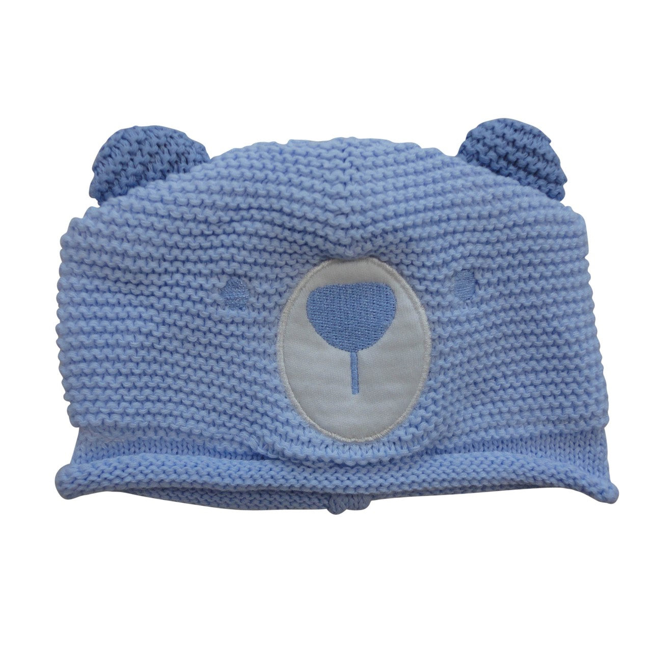 Blue Teddy Bear Hat and Mitts