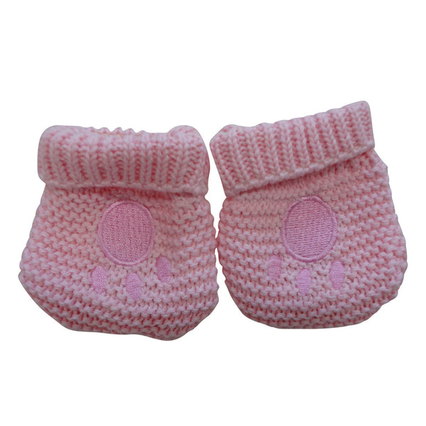 Pink Teddy Bear Hat and Mitts - Hetty's Baby Boutique