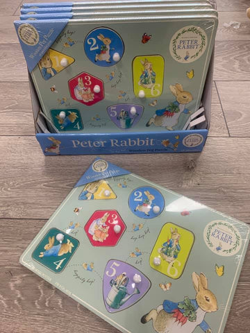 Peter Rabbit Wood Peg Puzzle - Hetty's Baby Boutique