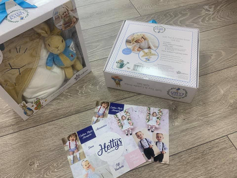 Peter Rabbit Gift Set - Cuddle Robe and Teddy Rattle - Hetty's Baby Boutique