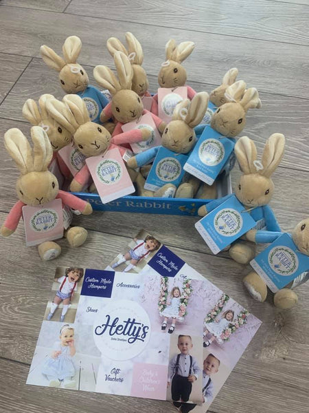 Peter Rabbit or Flopsy Bunny Rattles - Hetty's Baby Boutique